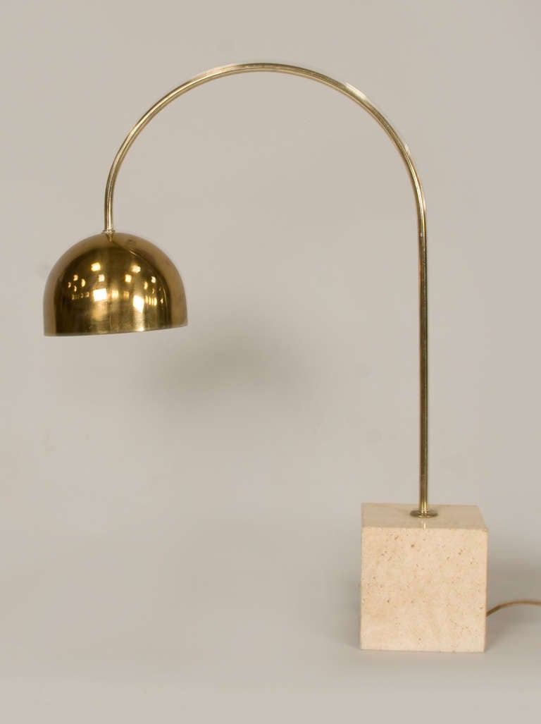 brass arc floor lamp brass arc lamp by harvey. Black Bedroom Furniture Sets. Home Design Ideas
