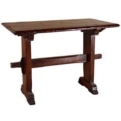 Continental Baroque Elm Wood Table
