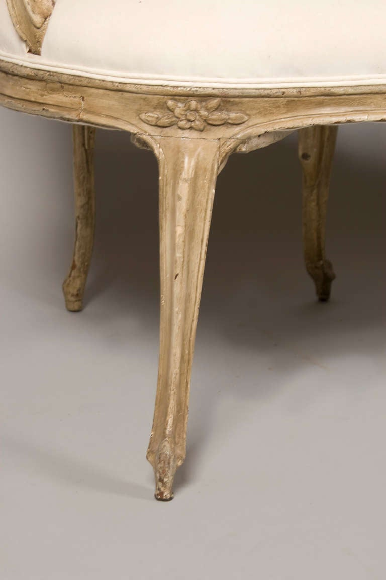 Beech 18th Century Louis XV Period Settee/Bench/Canape For Sale