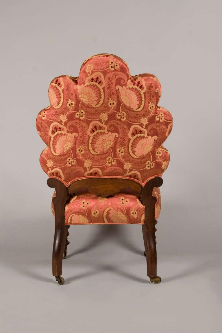 Antique slipper chair - Victorian Rococo Revival Slipper Chair 3