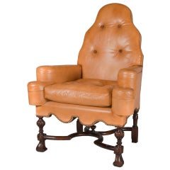 Queen Anne Style Library or Great Room  Chair