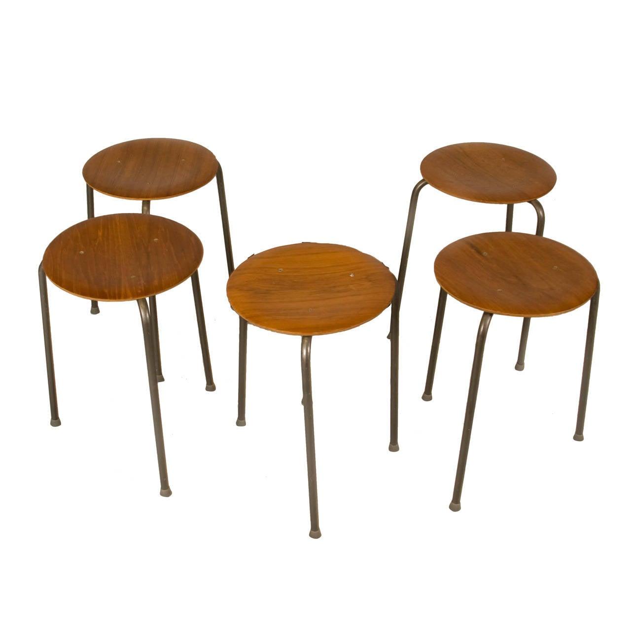Early Set Of Arne Jacobsen Dot Stools At 1stdibs