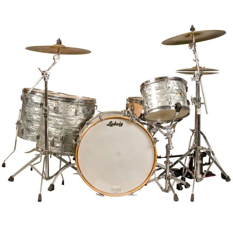 1965 ludwig super classic drum set at 1stdibs. Black Bedroom Furniture Sets. Home Design Ideas