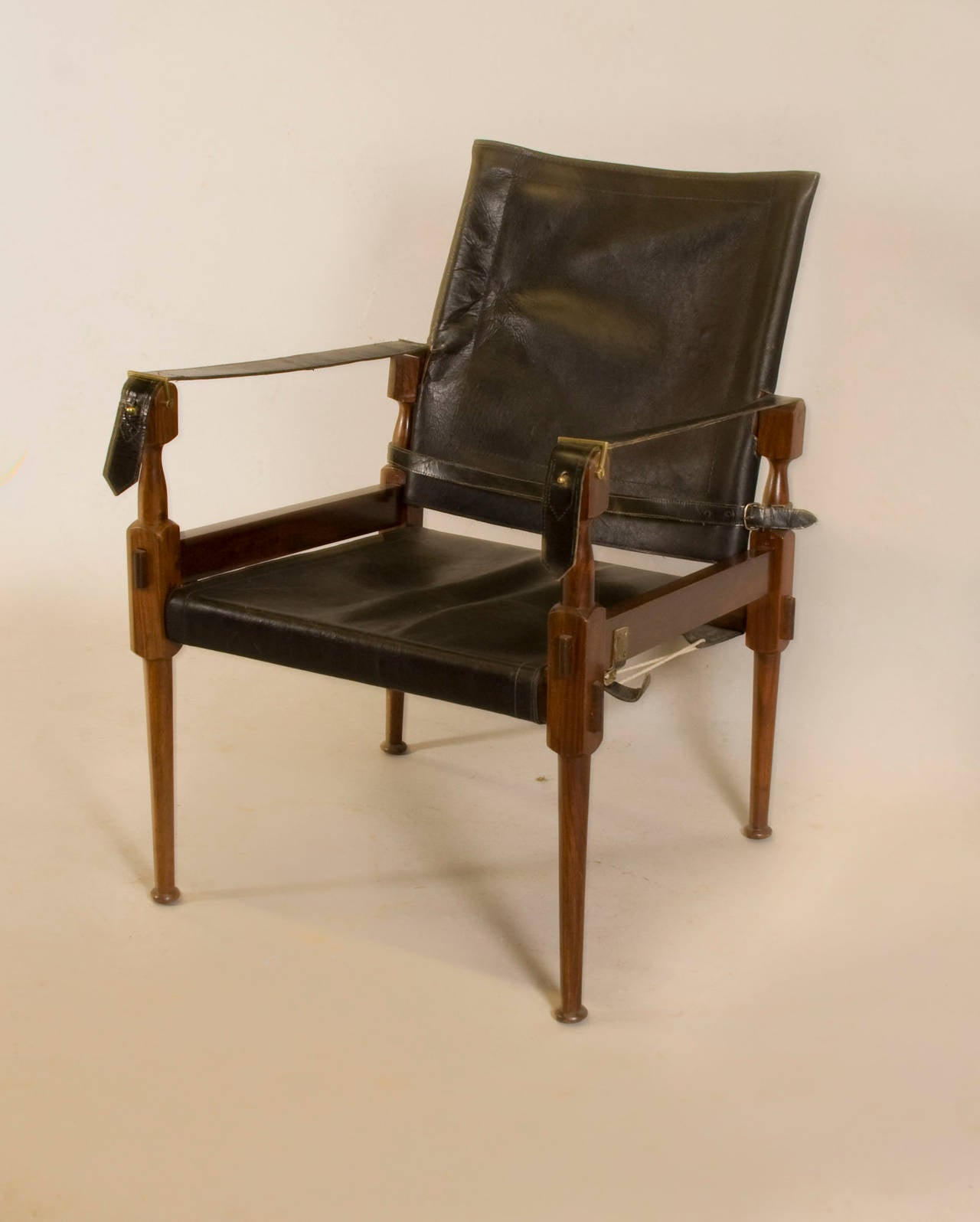 Rosewood Safari Chair In The Style Of Carl Aub 246 Ck For Sale