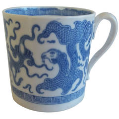 "Late Georgian, Miles MASON, Coffee Can, Porcelain, ""Chinese Dragon"", circa 181"