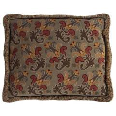 "Late 19th Century, Pillow or Cushion, Needlepoint, ""Art-Nouveau"" Design"