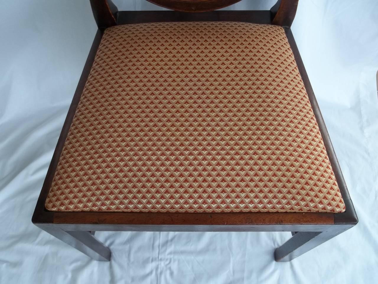 British Elegant 18th Century Hepplewhite Side Chair in Mahogany, English circa 1785 For Sale