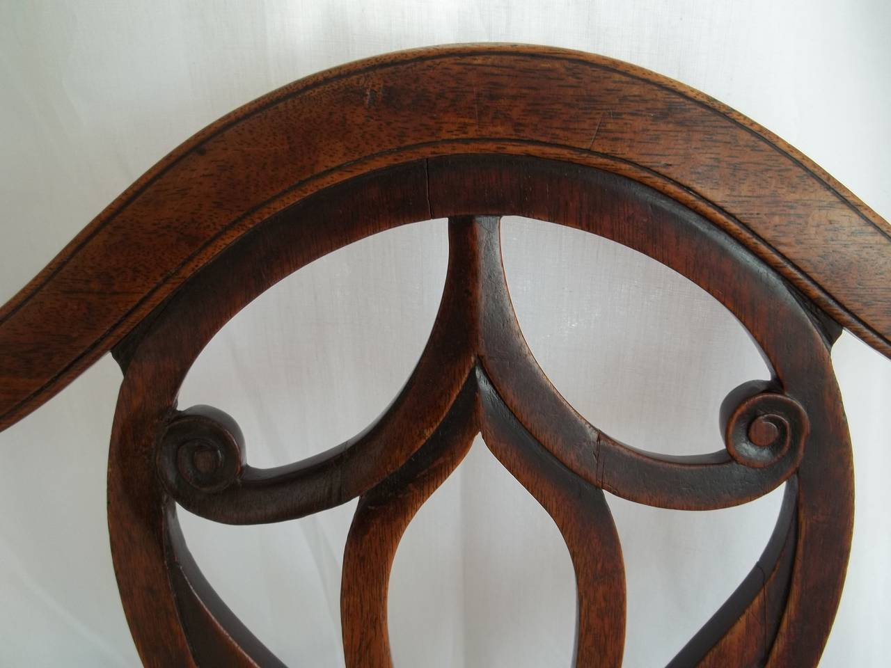 Elegant 18th Century Hepplewhite Side Chair in Mahogany, English circa 1785 In Good Condition For Sale In Lincoln, Lincolnshire