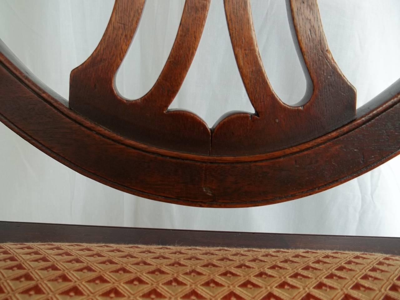 Elegant 18th Century Hepplewhite Side Chair in Mahogany, English circa 1785 For Sale 3