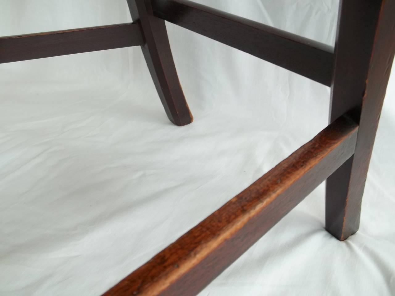 Elegant 18th Century Hepplewhite Side Chair in Mahogany, English circa 1785 For Sale 5