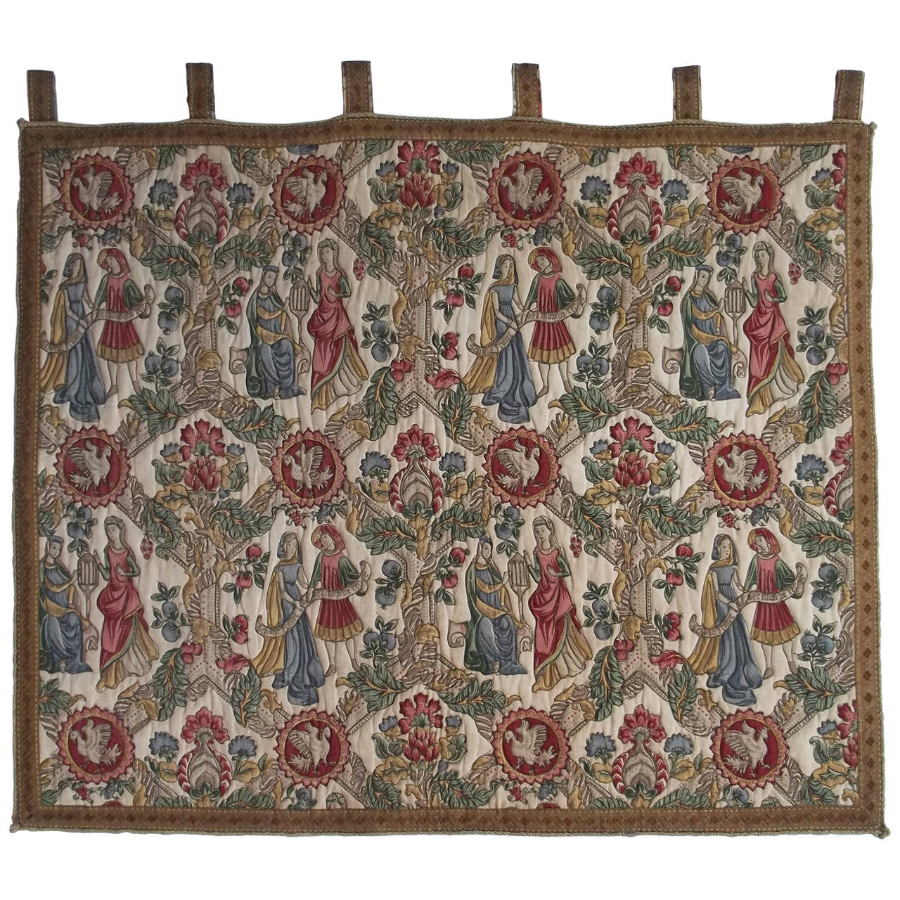 French Tapestry in the Medieval Aubusson Style, Early 20th Century