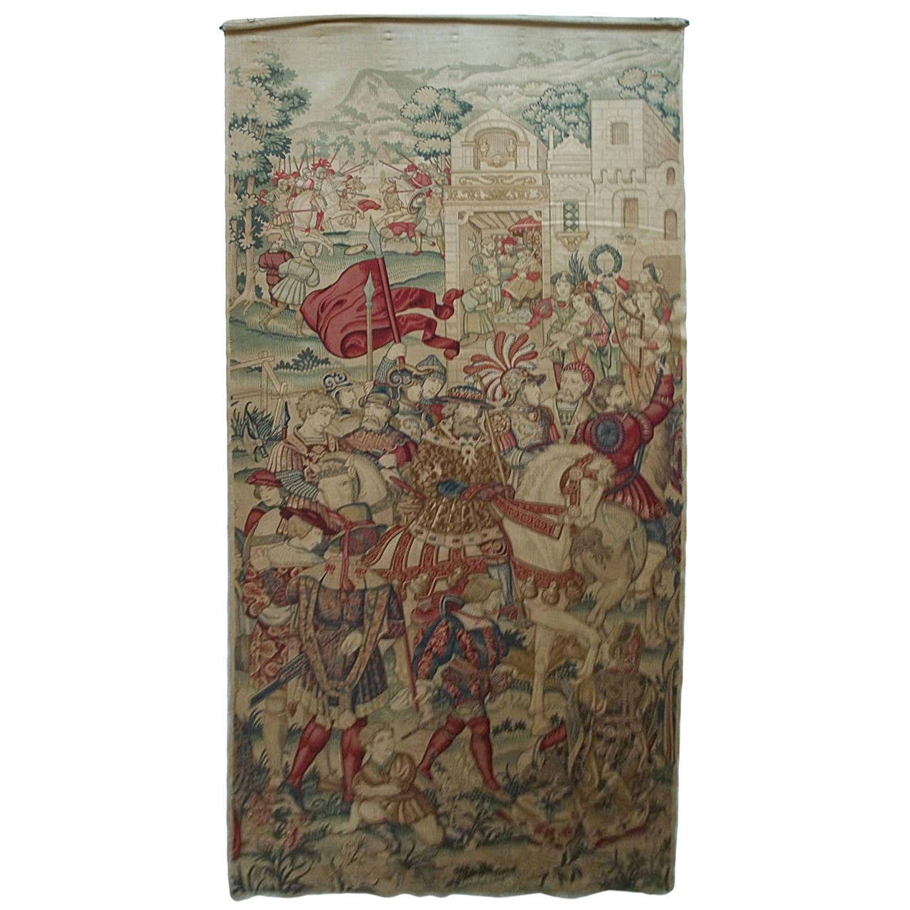 Elegant Superb, Large, Wall Hanging,Tapestry, Rich Medieval Pattern, French, Circa