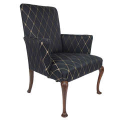 Fine George I Period Wing Armchair Walnut, English early 18th Century Circa 1720