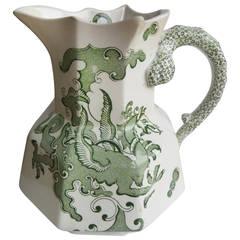 """Large, Mason's Ironstone JUG or Pitcher, """"Chinese Dragon"""" Pattern, circa 1835"""