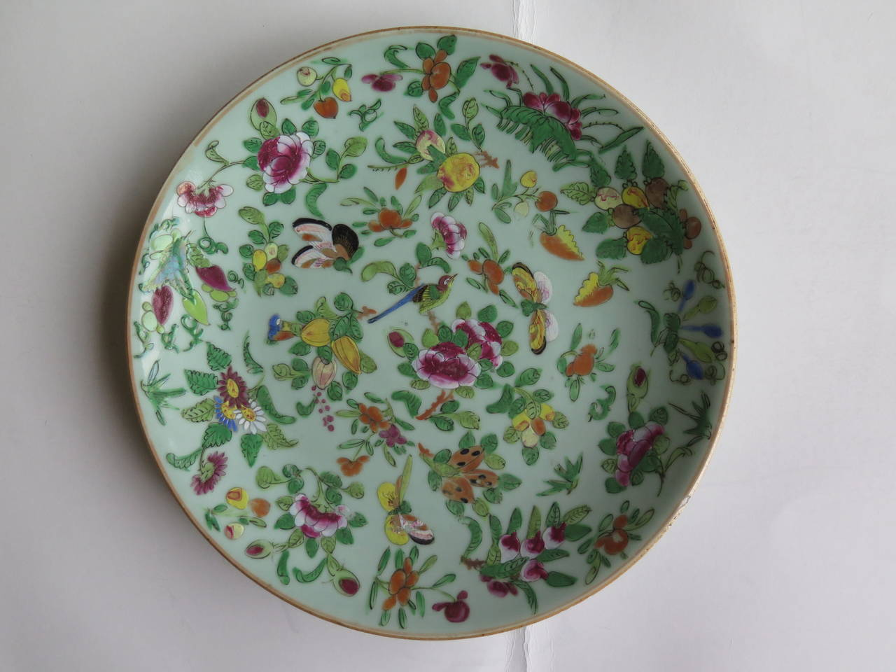 Chinese Porcelain Plates : Two th c chinese export porcelain plates hand