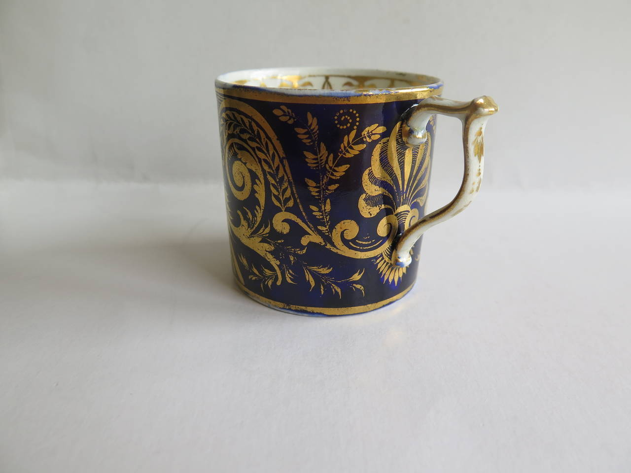 George III George 111rd Derby Coffee Can Hand-Painted Named View Near Edmonton, Ca 1810 For Sale
