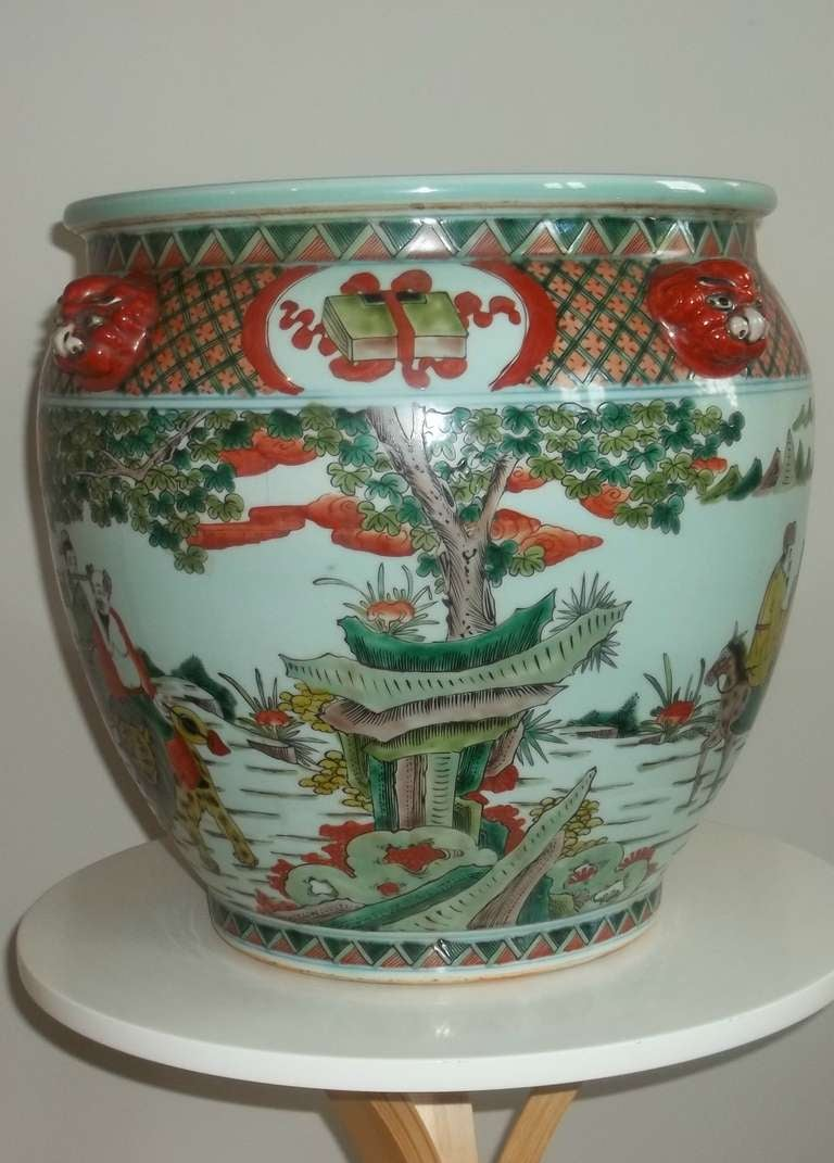 qing dynasty fish bowl chinese porcelain ca 19thc at