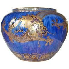 "WEDGWOOD Fairyland Lustre ROSE BOWL ""Celestial Dragons"", Porcelain, ca. 1925"