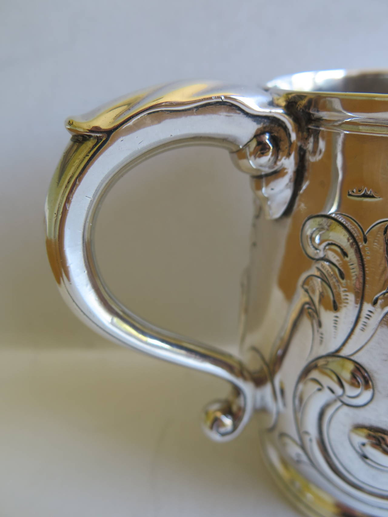 Rare Irish George II Silver Mug or Tankard by John Moore, Dublin 1740 8