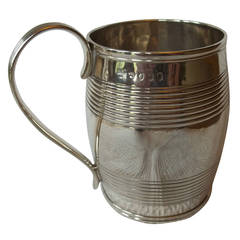 George III Sterling Silver Mug by Peter and William Bateman, London 1805