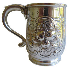 Rare Irish George II Silver Mug or Tankard by John Moore, Dublin 1740