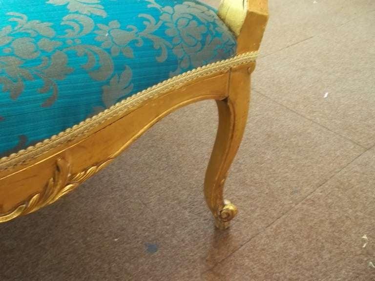 Mid-19th Century, Settee or Sofa, Louis XV Style, English, Giltwood, circa 1850 5