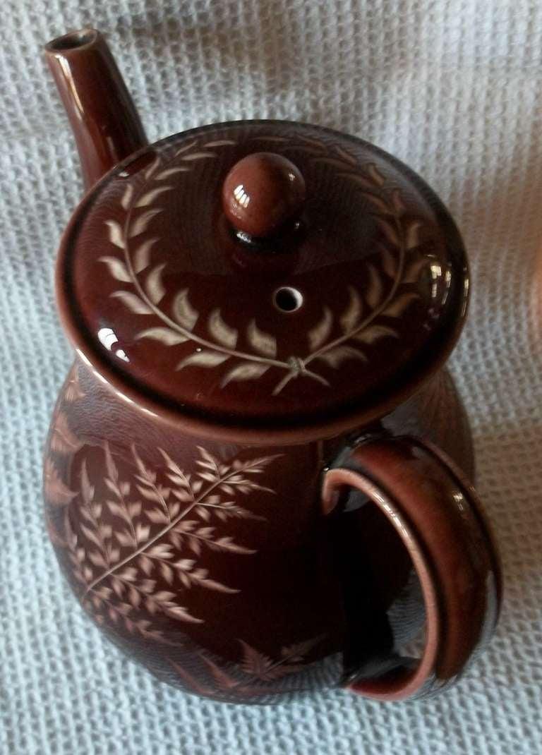 Rare Wedgwood Coffee Pot Incised Fern Patt N George
