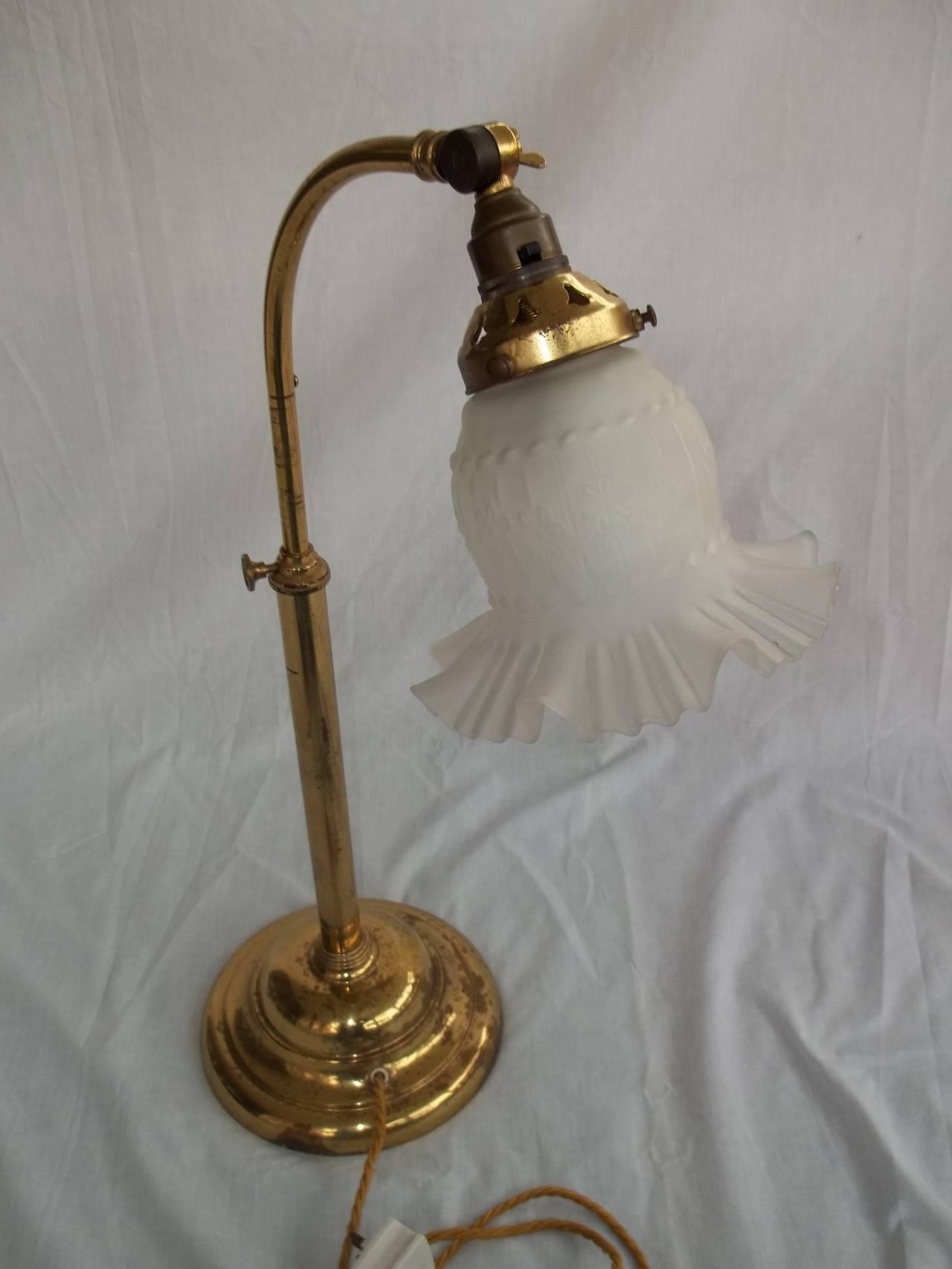 christopher wray english desk lamp adjustable brass circa 1960 s