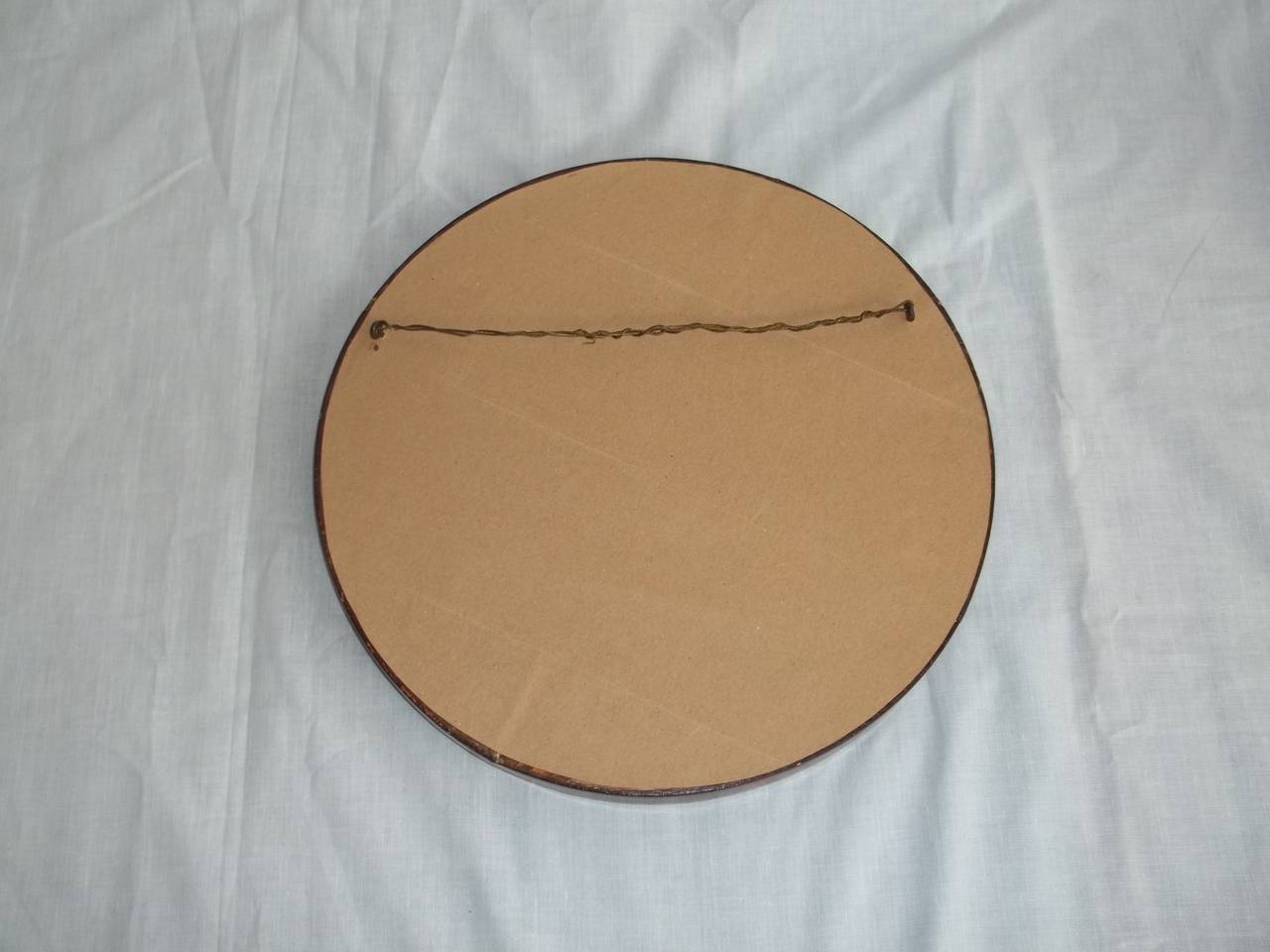 19thc small wall mirror circular bevelled mahogany for Small wall mirrors for sale