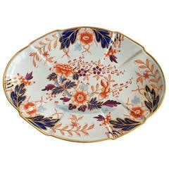 Georgian Davenport Large Dish or Platter Ironstone Hand Painted, Ca 1810