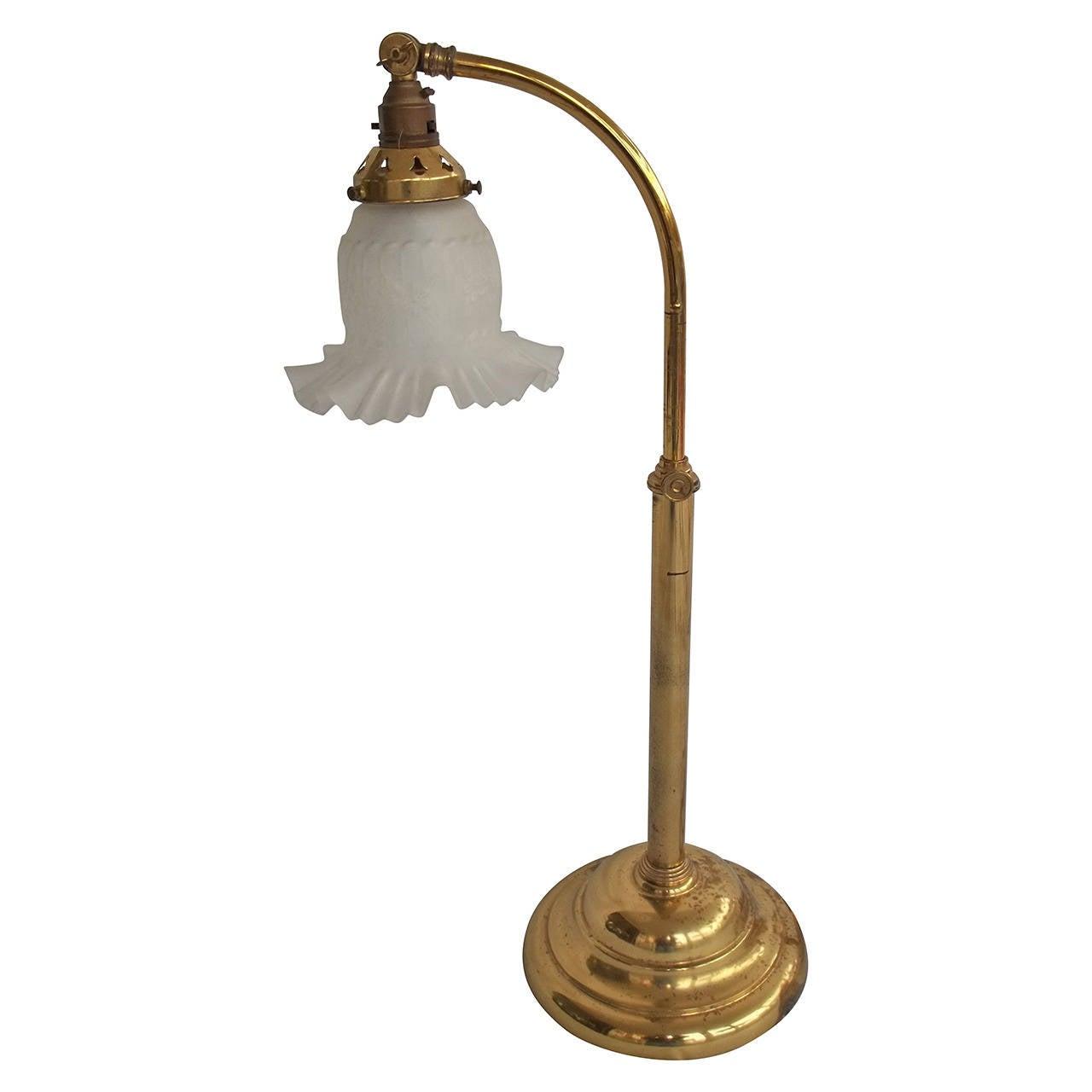 Christopher Wray, English Desk Lamp, Adjustable, Brass, Circa 1960u0027s 1