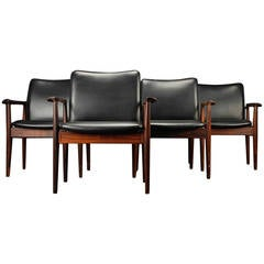 Grete Jalk Dining Table With 8 Chairs By Kai Kristiansen