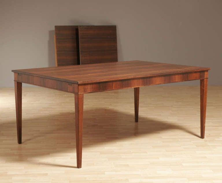 Frits Henningsen Rosewood Dining Table, Circa 1950 2