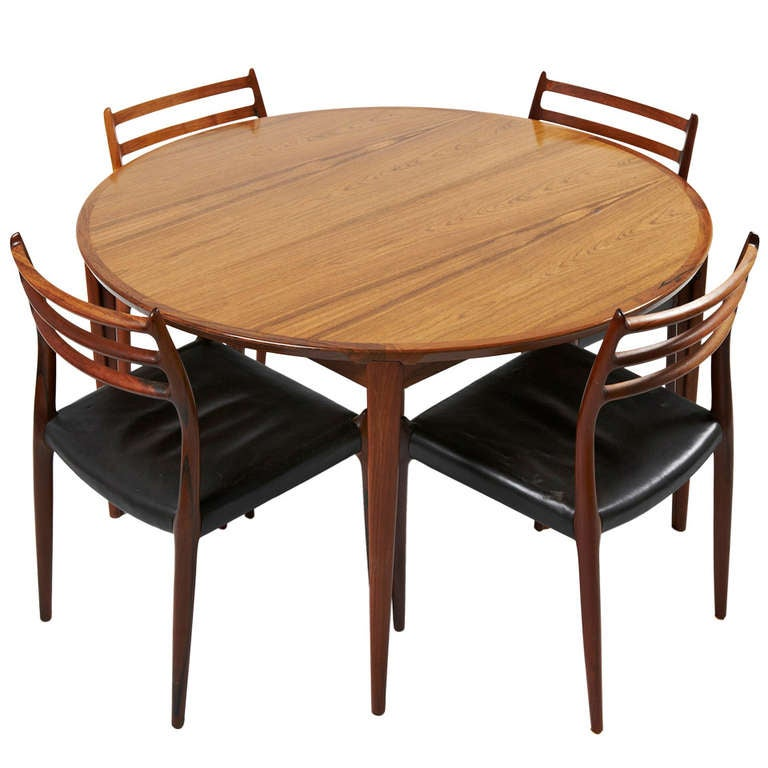 Niels Otto Moller Rosewood Dining Chairs with Rosengren  : 848001l from www.1stdibs.com size 768 x 768 jpeg 53kB