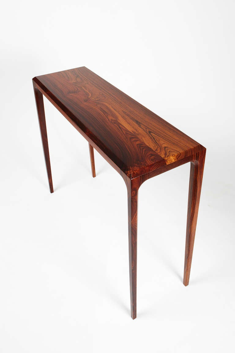 Pd60 Console Table In Solid Costa Rican Rosewood At 1stdibs