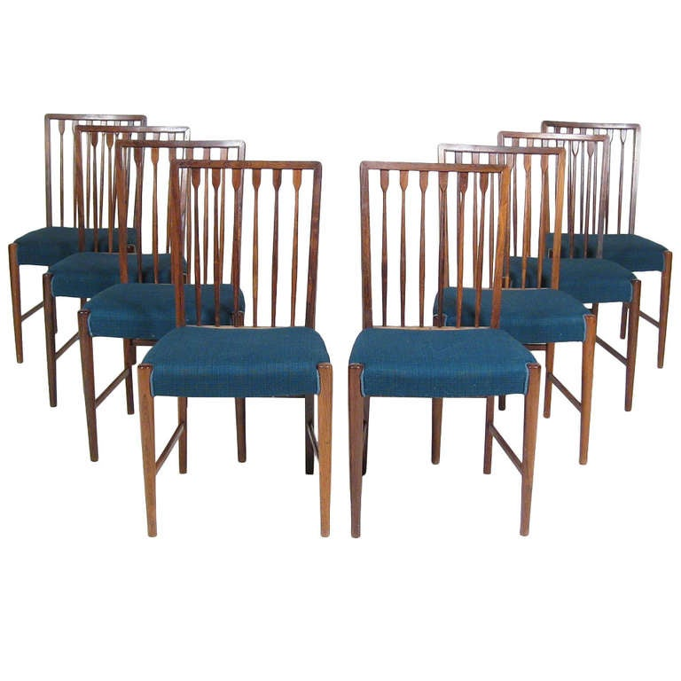 Set Of 8 Danish Rosewood Dining Chairs C1950