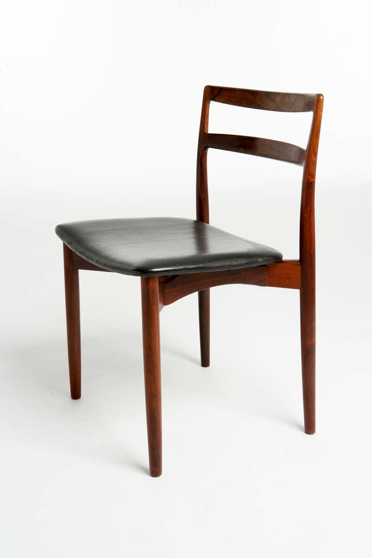 harry ostergaard rosewood dining chairs made by randers mobelfabrik at