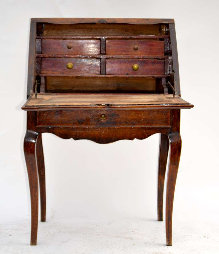 Mid th century french provincial small slant top desk at