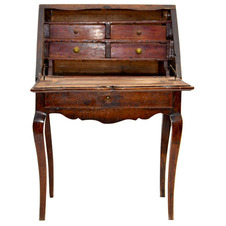 Mid 18th Century French Provincial Small Slant Top Desk At