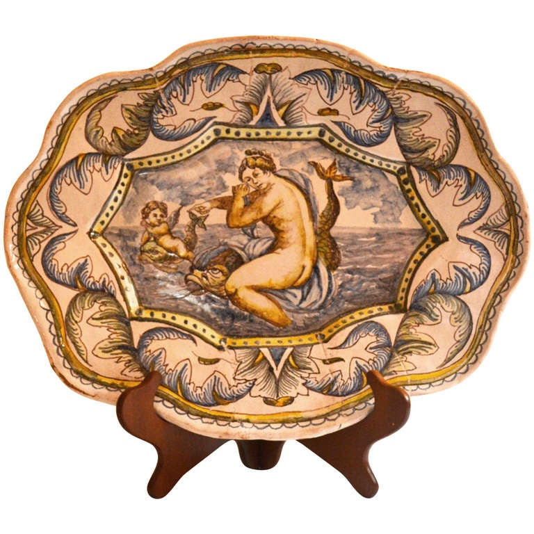 Mid 18th Century French Faience Platter At 1stdibs
