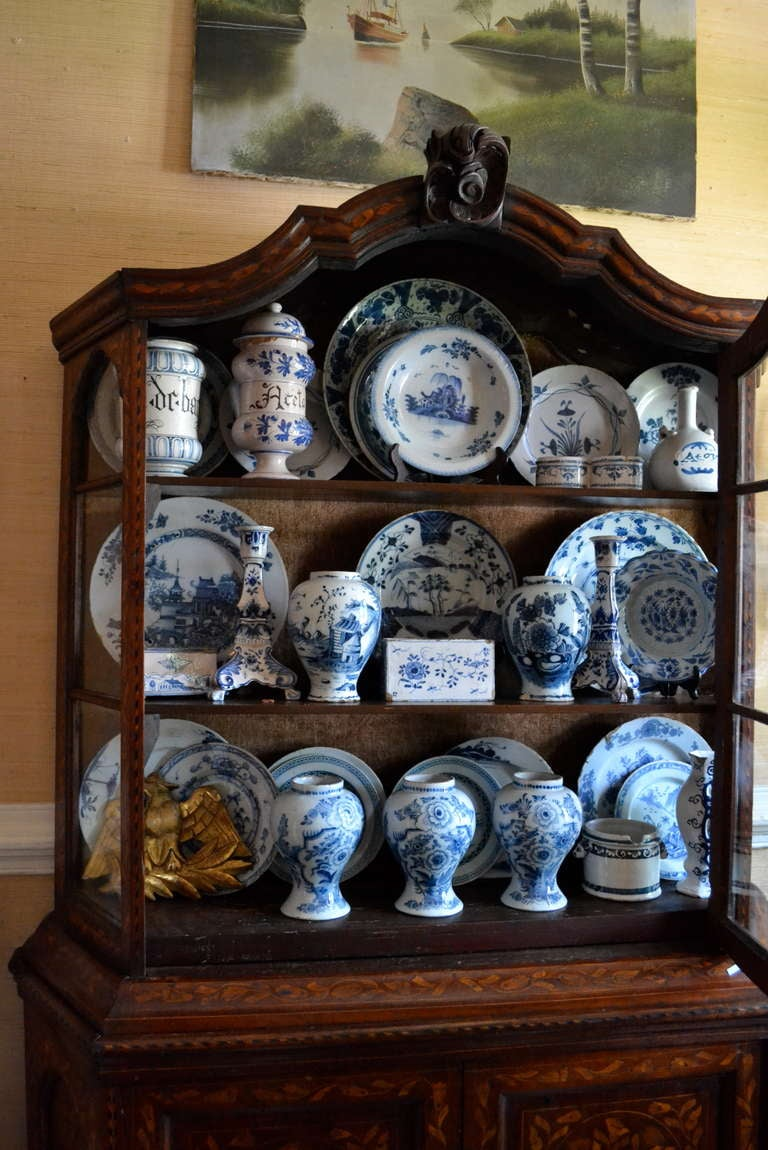 Large Wonderful Early Collection Of 18th Century Delft