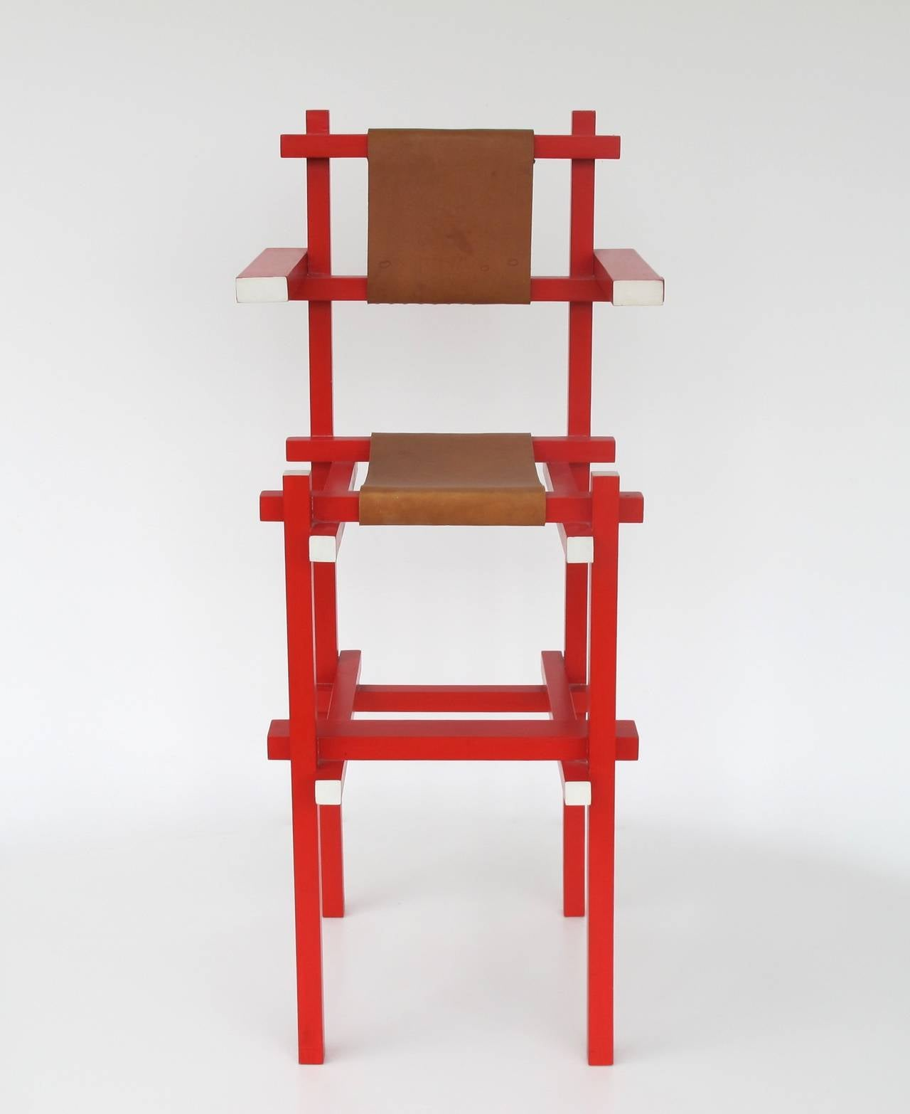 Gerrit Rietveld Rare Children s High Chair by Gerard van de
