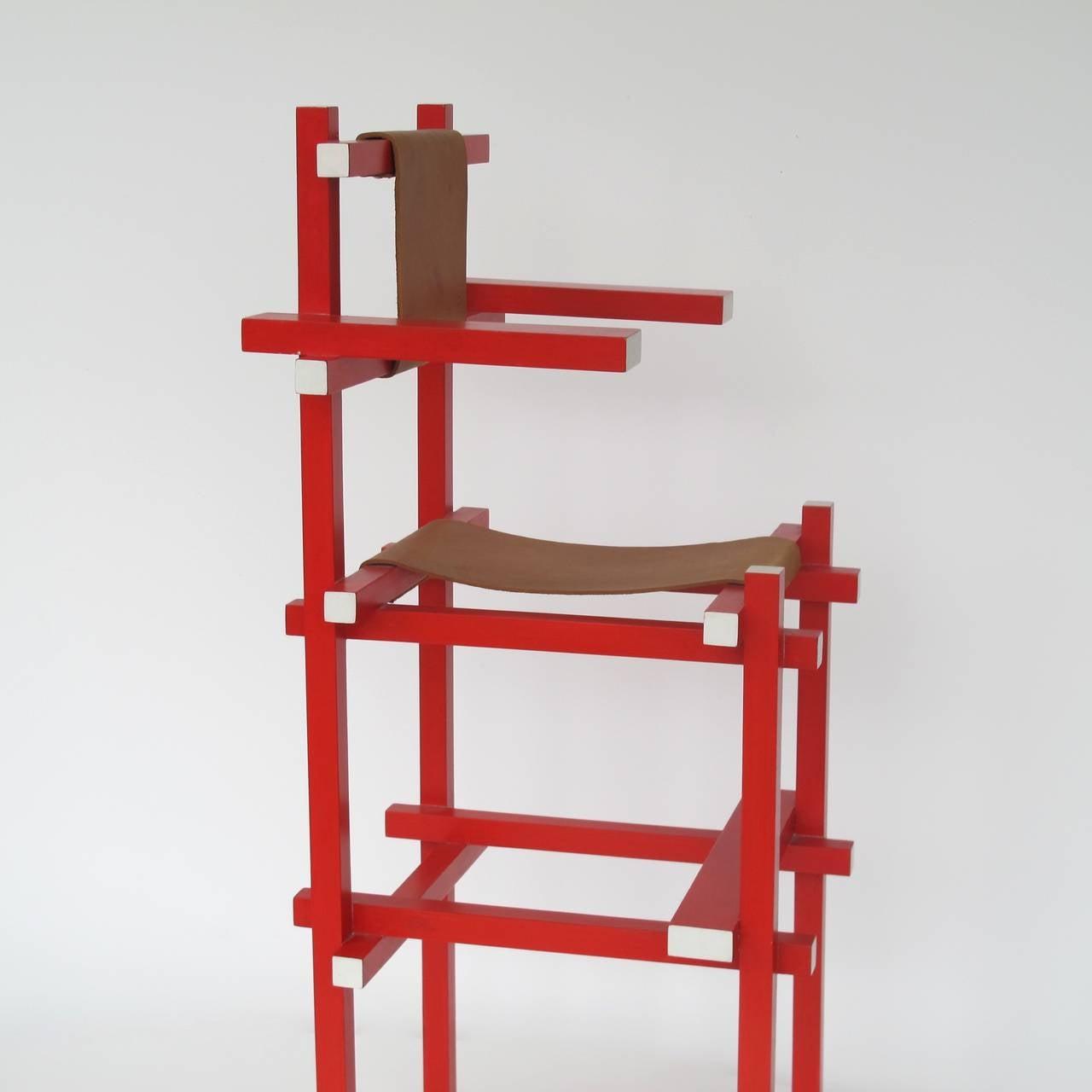 Gerrit Rietveld Rare Children's High Chair by Gerard van ...