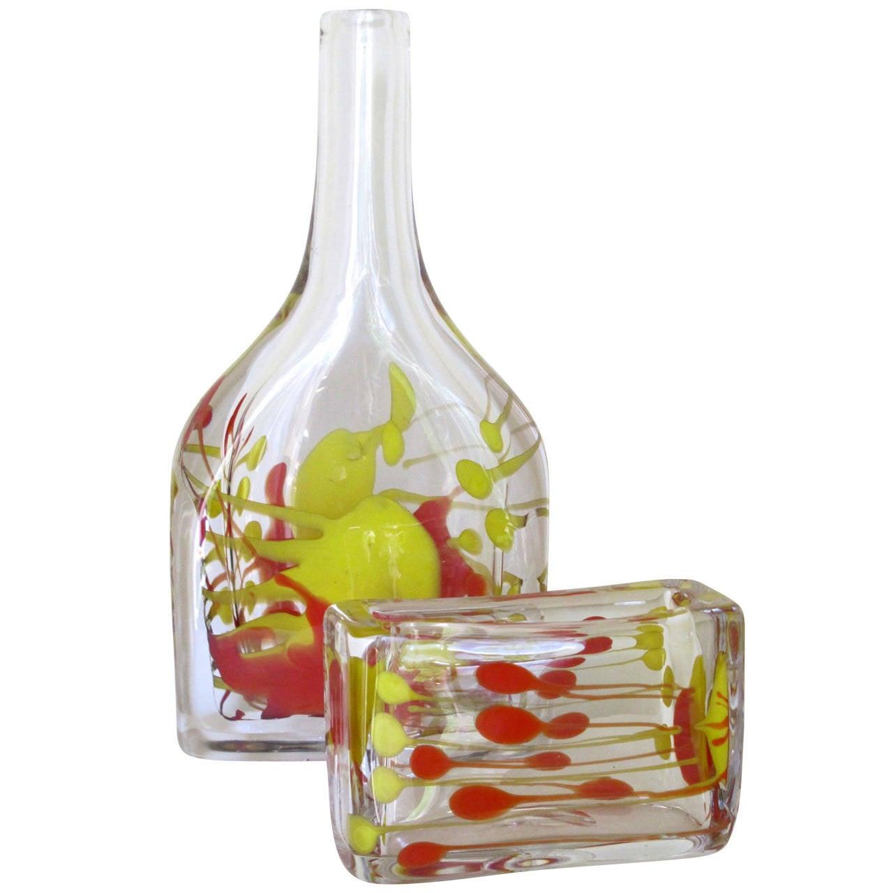 One-Off Mid-Century Modern Art Glass Set by Floris Meydam for Leerdam Unica