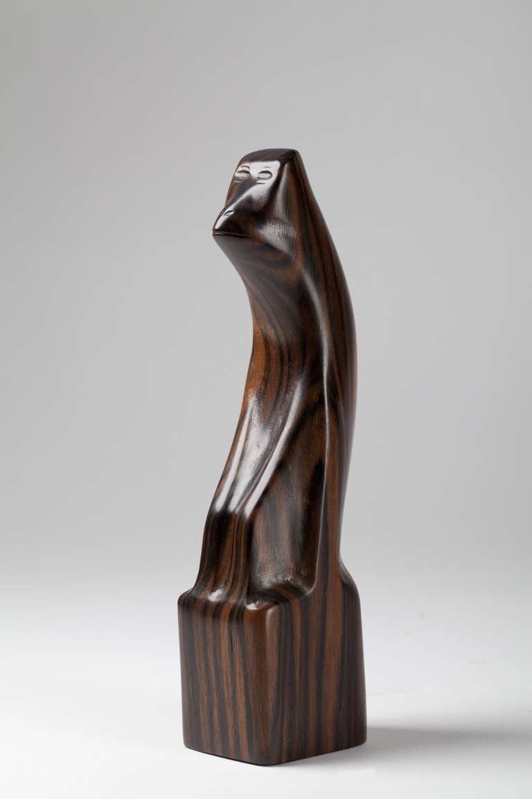 art deco sculpture of a monkey carved out of rosewood by bernard richters 1920 39 s at 1stdibs. Black Bedroom Furniture Sets. Home Design Ideas