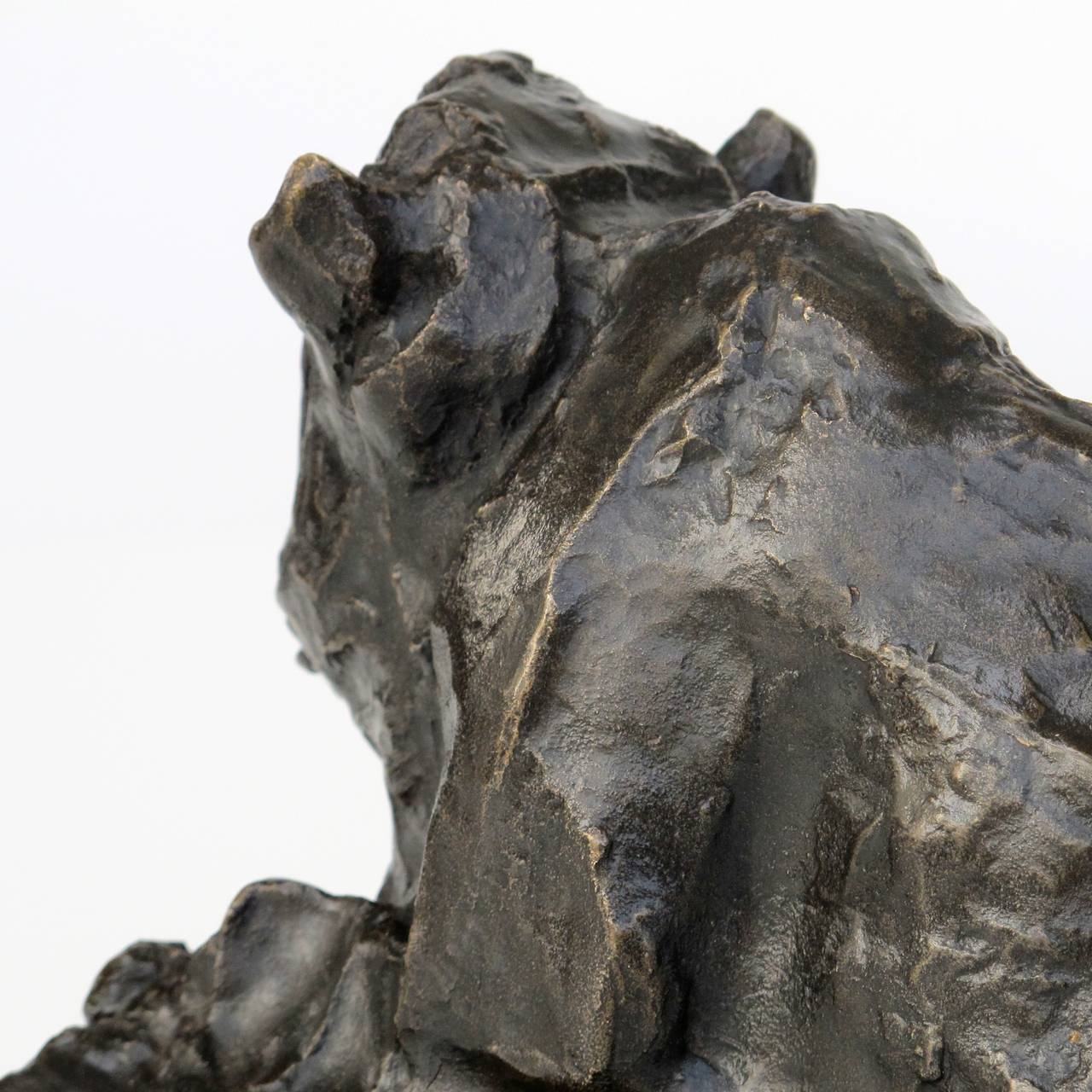 Cast Placid Bronze Sculpture of a Sitting Ox by Lambertus Zijl, 1916 For Sale