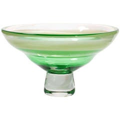 Large Modern Glass Bowl by Floris Meydam, Leerdam Unica, 1977