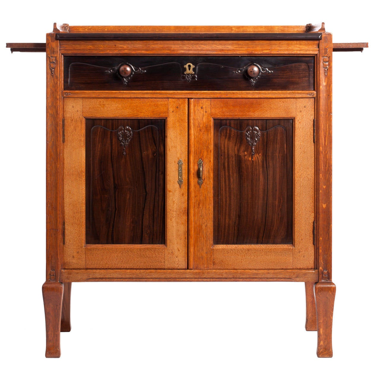 Finely carved cabinet by theo nieuwenhuis for van for Carved kitchen cabinets