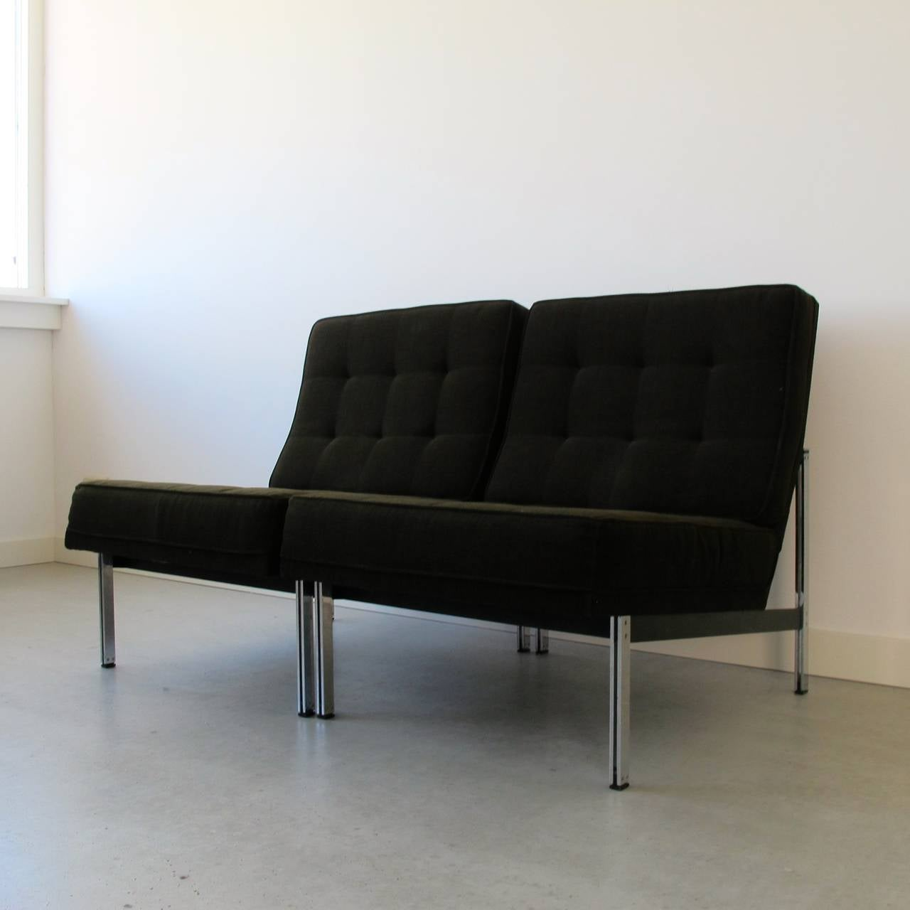 American Pair of Parallel Bar Lounge Chairs by Florence Knoll, circa 1955