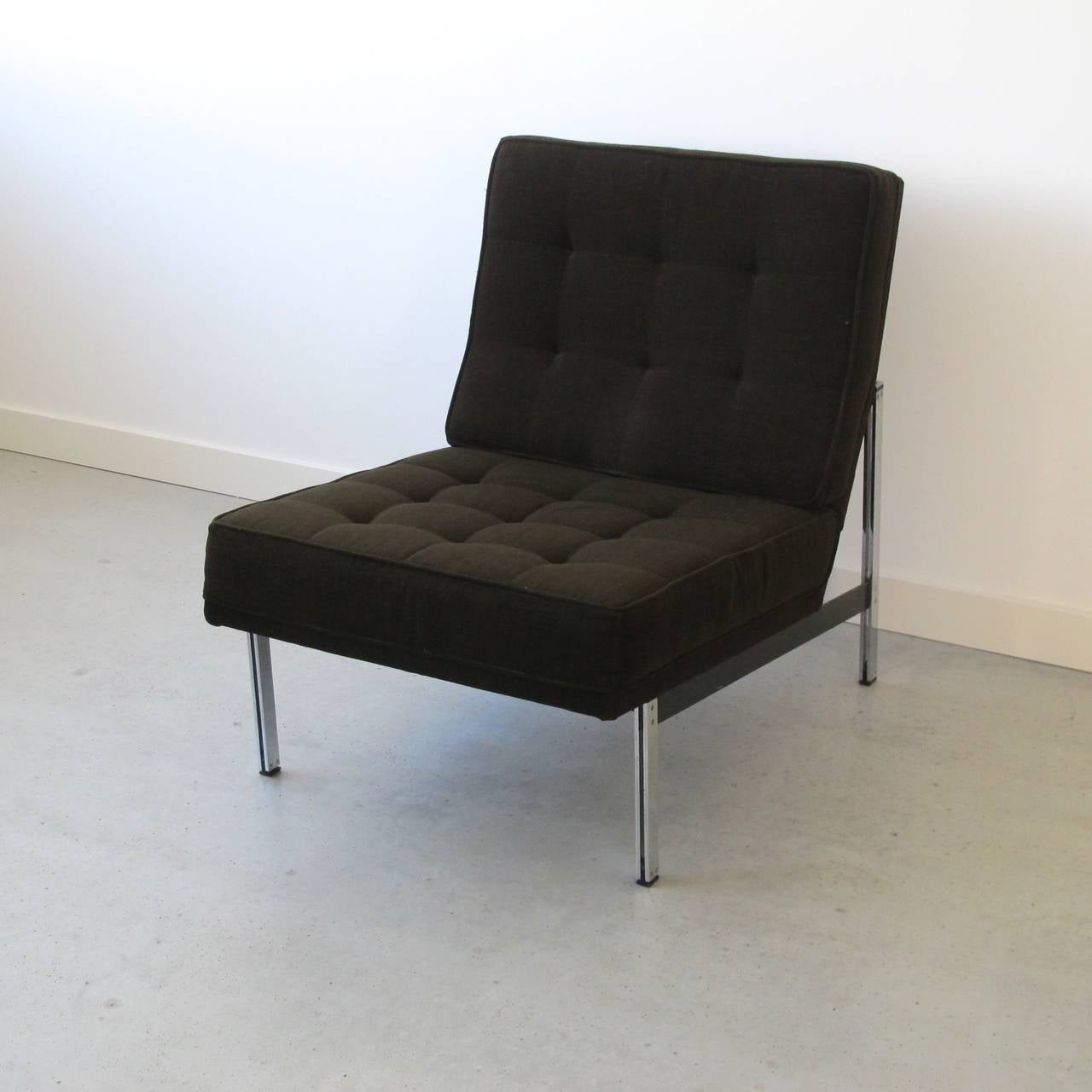 Pair of Parallel Bar Lounge Chairs by Florence Knoll, circa 1955 In Excellent Condition In Amstelveen, NL